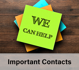 Important Contacts - We can help